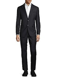 Todd Snyder Mayfair Fit Checked Wool Suit Charcoal