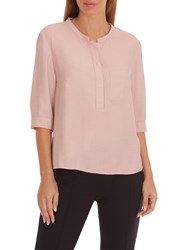Betty And Co. Fine Textured Blouse New Rose Cream