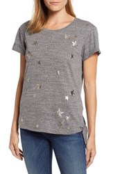 Wit And Wisdom Star Side Tie Tee Heather Charcoal