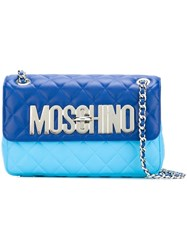 Moschino Quilted Shoulder Bag Blue