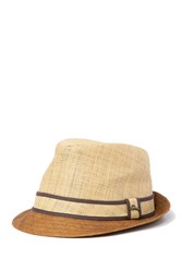 Tommy Bahama Two Tone Burnt Raffia Fedora Natural 2