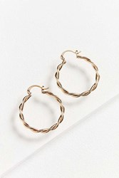 Urban Outfitters Vanessa Twisted Hoop Earring Gold
