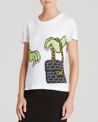 Moschino Cheap And Chic Moschino Cheap And Chic Tee Dinosaur Handbag Print White