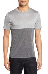 Eleventy Men's Colorblock Silk And Cotton T Shirt