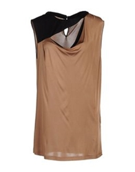 Fabrizio Lenzi Short Dresses Brown