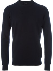 Jil Sander Crew Neck Jumper Blue