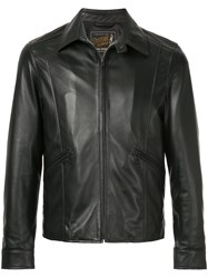 Hysteric Glamour Collared Leather Jacket Black