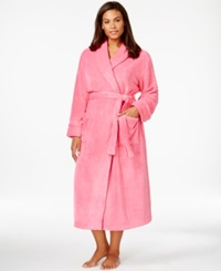 Charter Club Plus Size Supersoft Long Robe Rose