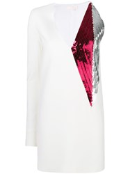 Genny Sequin Party Dress White