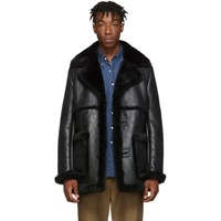 Schott Ssense Exclusive Black Shearling Jacket