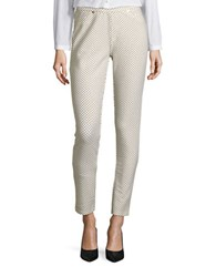 Michael Michael Kors Petite Bungalow Cotton Stretch Leggings Cream