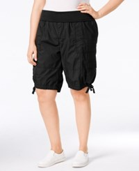 Calvin Klein Performance Plus Size Cargo Shorts Black