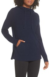 Zella Cashmere And Wool Hoodie Navy Peacoat