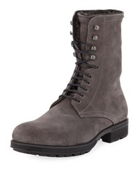 Aquatalia By Marvin K Hayden Fur Lined Boot Gray