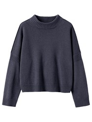 Toast Wool Cotton Easy Jumper Navy