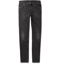 Balenciaga Distressed Denim Jeans Black