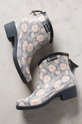 Anthropologie Aigle Miss Juliette Printed Rain Boots Blue Motif