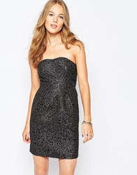 Vila Bandeau Prom Dress Black