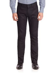 Giorgio Armani Solid Denim Jeans Black