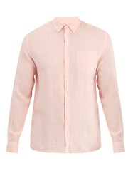Solid And Striped Classic Button Down Linen Shirt Pink