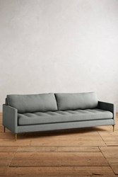 Anthropologie Linen Angelina Sofa Mint