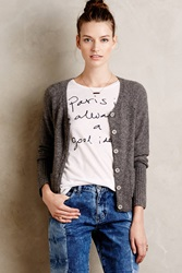 Moth Asheville Boucle Cardigan Dark Grey