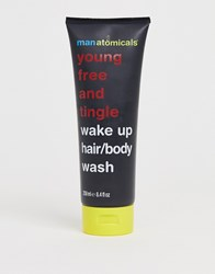 Manatomicals Young Free And Tingle Wake Up Hair Body Wash Clear
