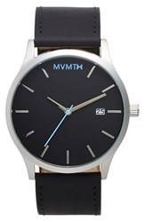 Mvmt Men's Leather Strap Watch 45Mm