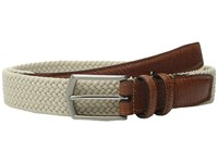 Torino Leather Co. 32Mm Italian Woven Multi Cotton Elastic Beige Belts
