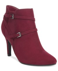 Styleandco. Style Co. Zoey Strappy Booties Only At Macy's Women's Shoes Wine