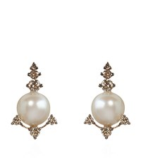 Annoushka Diamonds And Pearls Stud Earrings Female