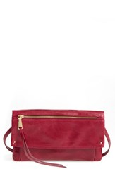 Hobo Rudy Leather Crossbody Bag Red Red Plum