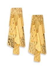 Josie Natori Waterfall Drop Earrings Gold