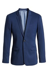 Topman Skinny Fit Suit Jacket Blue