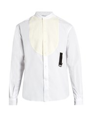 J.W.Anderson Band Collar Bib Front Cotton Shirt White