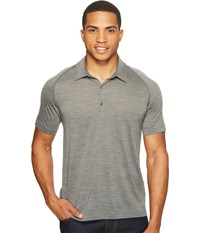 Icebreaker Sphere S S Polo Gritstone Heather Men's Short Sleeve Pullover Gray