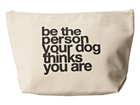 Dogeared Be The Person Your Dog Thinks You Are Lil' Zip Canvas Handbags Olive