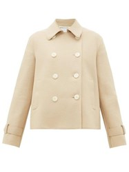 Harris Wharf London Double Breasted Pressed Wool Jacket Camel