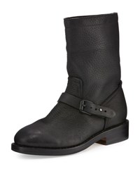 Rag And Bone Oliver Leather Moto Boot Black