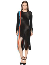 Marco De Vincenzo Fringed Milano Jersey Dress