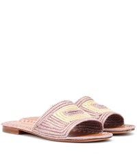 Carrie Forbes Raffia Sandals Pink