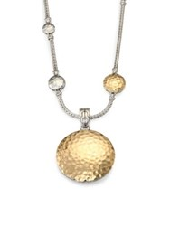 John Hardy Palu 18K Yellow Gold And Sterling Silver Medium Round Enhancer Gold Silver