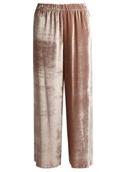 Masscob Straight Leg Velvet Trousers Light Pink