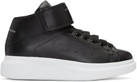 Alexander Mcqueen Black Oversized High Top Sneakers