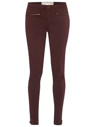 White Stuff Jenny Zip Jeggings Burgundy