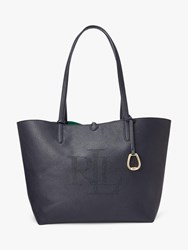 Ralph Lauren Merrimack Reversible Logo Tote Bag Navy Riding Green
