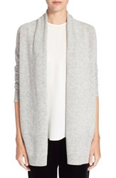 Women's Theory 'Ashtry J' Open Front Cashmere Cardigan Heather Grey