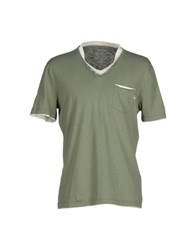 Gas Jeans Gas Topwear T Shirts Men Military Green