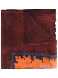 Avant Toi Printed Scarf Women Silk Cashmere One Size Red