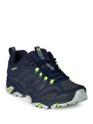 Merrell Moab Fst Leather And Mesh Low Hiking Shoes Navy
